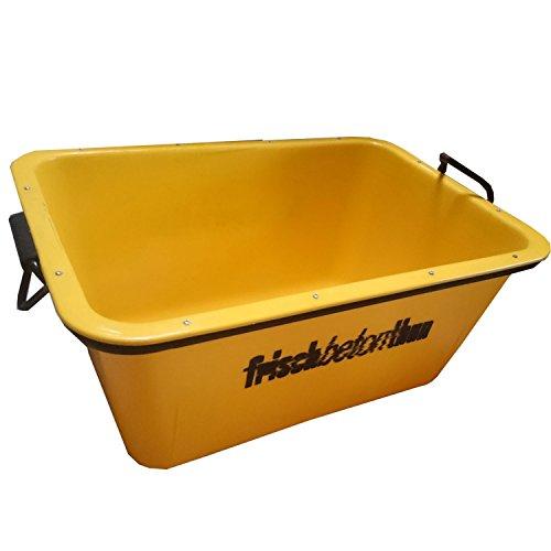 UvV®-FMK 2te Wahl Mörtelwanne, Fertigmörtelkübel mit Kranösen, gelb teilweise mit Fehldruck (TüV geprüfte Qualität) (gelb)