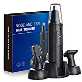 Nose Hair Trimmer-Professional Painless Ear and Nose Hair Trimmer for Men and Women, Waterproof Dual Edge...