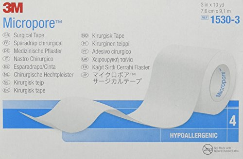 Micropore Surgical Tape White 3 Inches X 10 Yards - 4 Rolls