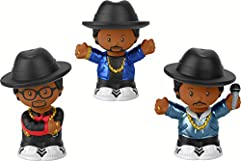 Fisher-Price Little People Collector Run DMC, Set of 3 Figures Styled Like The Iconic Hip Hop Group for Fans Ages 1-101 [ Exclusive]