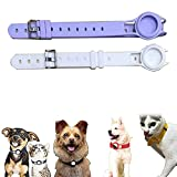 ZHENGAO 2 uds Funda Protectora de Silicona para Mascotas para Personas Airtag Correa de Cuello para Perros y Gatos,para localizador de Collares de Seguimiento de Perros (B)