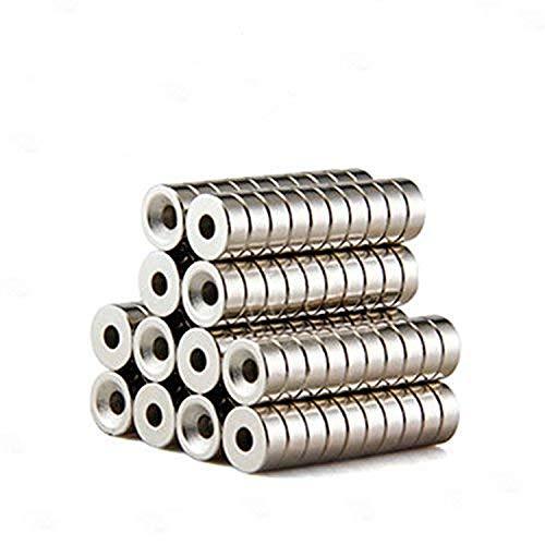 ネオジム磁石 12mm x 4mm 皿穴4mm 丸型 ボタン型 ネジ穴 マグネット [25個セット]