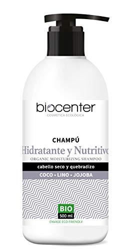 Biocenter Top Champú Hidratante Nutritivo Coco Lino Jojoba - Envase Ecofriendly 500 ml