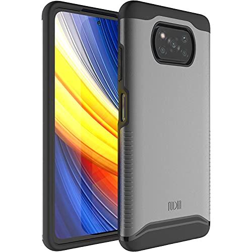 TUDIA DualShield diseñado para Xiaomi Poco X3 Pro Case/Poco X3 NFC, [Fusionar] a prueba de golpes grado militar doble capa delgada cubierta protectora rígida para Xiaomi Poco X3 Pro/X3 NFC (gris)