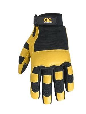 CLC Custom Leathercraft Work Gloves with Top Grain Leather and Neoprene Wrist Closure