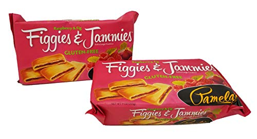 Pamela's Products - Figgies and Jammies Extra Large Cookies Raspberry and Fig - 9 oz.pack of 2