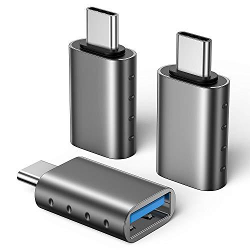 SCHITEC Adaptador USB C a USB 3.0 [3 Piezas] con OTG USB Type C Conector para MacBook Pro 2019/2018/2017, MacBook Air 2018, Google, Samsung Galaxy S9/S9+,Huawei P20/P30