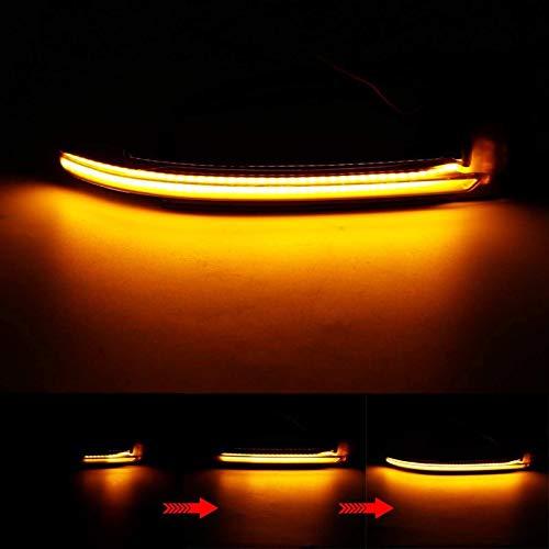 Wyfan 2 unids LED Coche Dinámico Señal de Giro LED LED Blinker Side Mirror Light Fit para Audi A4 A5 B8.5 RS5 RS3 A3 8P B8 Q3 S4 A4L S5 S6 A6L