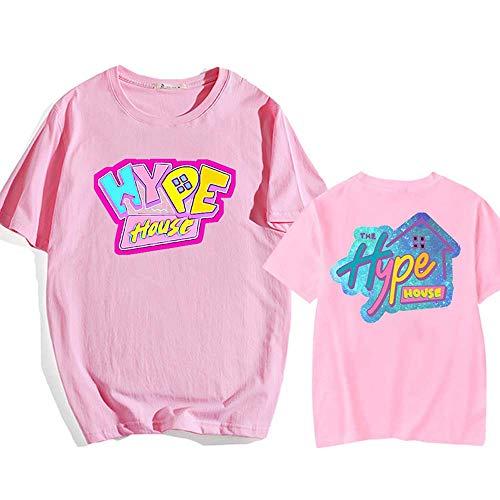 LYJNBB T-Shirts Manches Courtes/Maison Hype T-Shirt Pull Imprimer S-XXXL Femme Unisexe Couple Porter Hauts,Rose,S