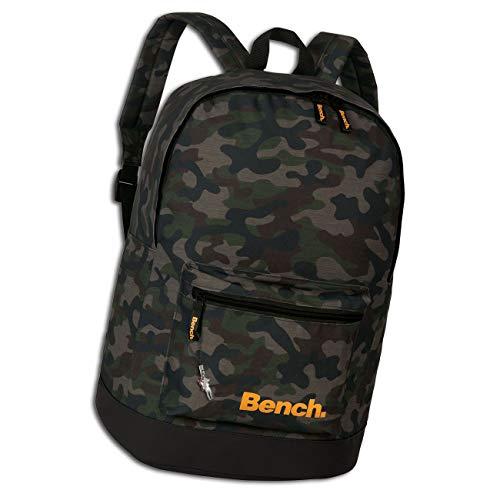 Bench Daypack Camouflage Rucksack Backpack Tarnmuster olivgrün 31x42x20 Schulrucksack D1ORI301F Kunstleder Rucksack von Bench für die Frau