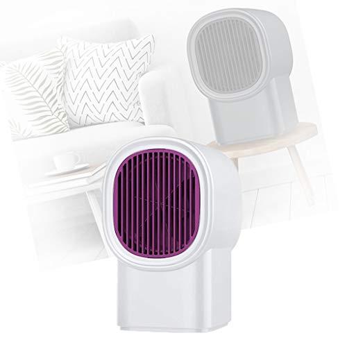 DZSF Keramik Heizlüfter Badezimmer, Zwei Sekunden Hitze Energiesparend Leise Heizung, Hochwertiges Flammschutzmittel Heater Schnellheizer Klimaanlage Elektrische Heizung Lüfter,Weiß,10 * 10 * 17cm