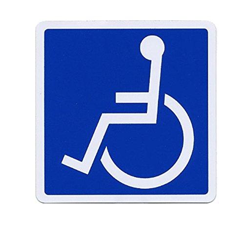 SSC 車椅子 マグネットステッカー 身障者用設備・障害者用設備 車いす 車イス 車両等への貼付/標識/マークとして最適 防水・耐水 屋外での使用も可 障害者スペースへの駐車等に 左向き/110×110mm qb600029b02n0