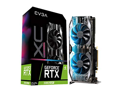 EVGA GeForce 08G-P4-3183-KR, RTX 2080 Super XC Ultra, Overclocked, 2.75 Slot Extreme Cool...