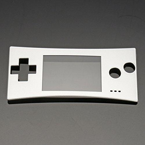 C-FUNN Sostituzione Frontale Guscio Frontalino Cover Caso per Nintendo Gameboy Micro Gbm - Argento