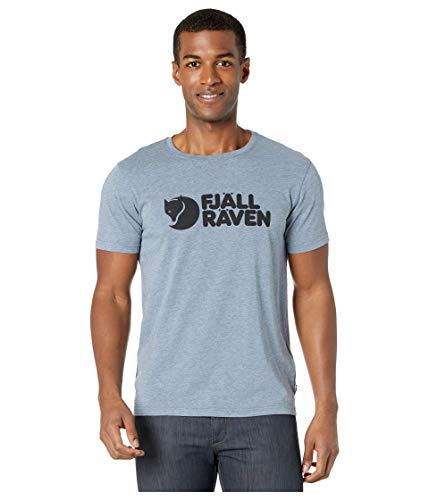 FJALLRAVEN Herren Logo T-Shirt M XL Onkel-blau-Melange