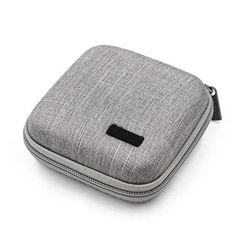 Hemobllo - Organizador de cables para MacBook Air/Pro, cable USB, tarjeta SD, disco duro, libro electrónico, Kindle y iPad, color gris