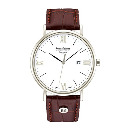 Bruno Söhnle Herren Analog Quarz Uhr mit Leder Armband 17-13085-971