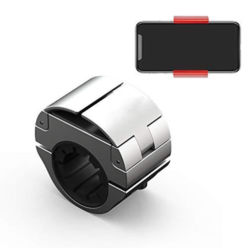Soporte para Teléfono Anti-vibración para Bicicleta, Soporte Invisible para Teléfono para Bicicleta Y Motocicleta, Compatible con Teléfonos Inteligentes con Un Ancho De 2.3'-3.35' (Plata)