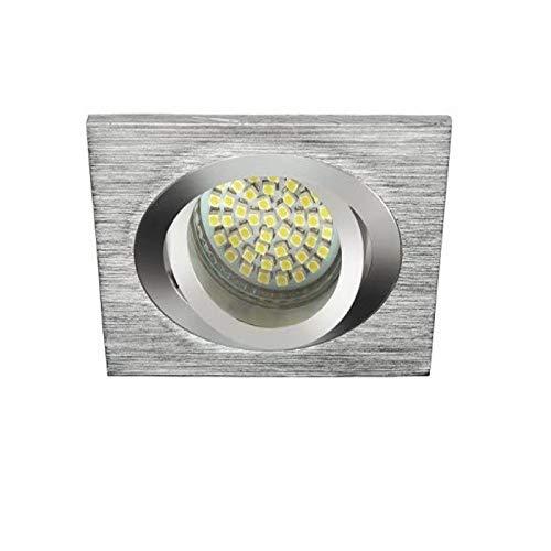 Marco empotrable cuadrado de aluminio cepillado orientable – VIT L