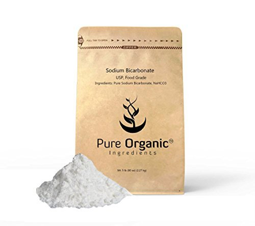 Pure Sodium Bicarbonate (Baking Soda) (5 lb.), Eco-Friendly Packaging, Highest Purity, Pharmaceutical Grade