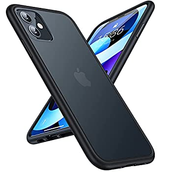 TORRAS Shockproof Designed for iPhone 11 Case [6FT Military Grade Drop Protection] Translucent Hard Back with Silicone Bumper Slim iPhone 11 Phone Case Protective Case iPhone 11 6.1   Frost Black