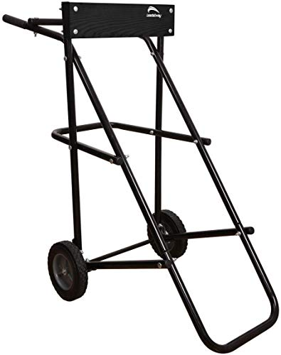 LEADALLWAY Outboard Boat Motor Stand Display Carrier Cart (Black u Type)