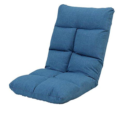 L-R-S-F Lit Pliable Paresseux De Dortoir De Fenêtre De Baie De Chambre À Coucher Simple De Chambre À Coucher Avec Le Mini Fauteuil De Chaise De Dossier (Couleur : Hiding blue)