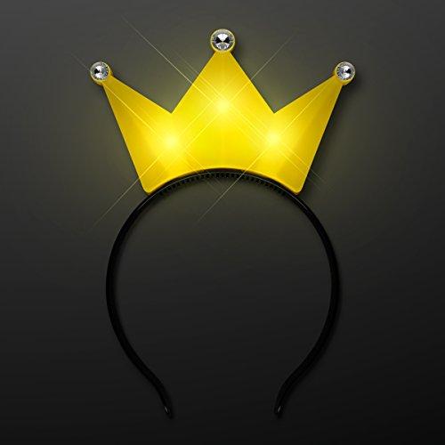 Light Up LED Crown Tiara Princess Headband (Yellow)