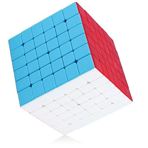 Maomaoyu Cubo Magico 6x6 6x6x6 Original Puzzle Cubo de la Velocidad Niños Juguetes Educativos(Sin Etiqueta)