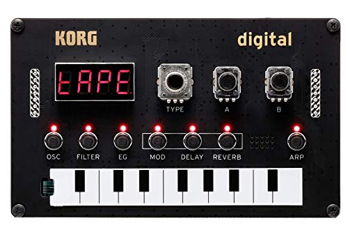 KORG Nu:Tekt NTS-1 Digital Kit, programmierbarer Synthesizer, DIY Synth Baukasten, mächtige Synthese- und Multieffekt-Engine