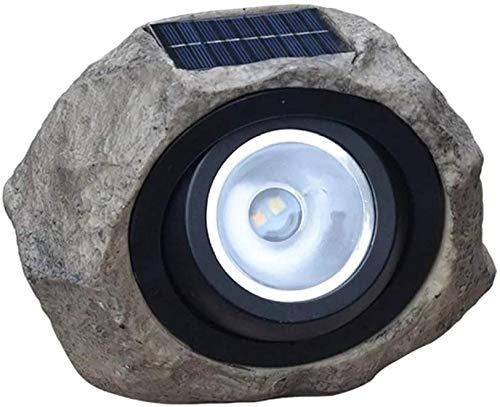 Landschaftsgartenbeleuchtung Solarbetriebene Lampensimulation Steinrasenlicht Außen Wasserbeständige Landschaftsbeleuchtung 200X170X130mm für Veranda Yard Lawn Patio Courtyard-Einheitsgröße_Schwa