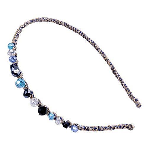 Demarkt Rétro Serre-Tête avec Perles Femmes Bijoux Accessoires Cheveux - Couleur Bleu