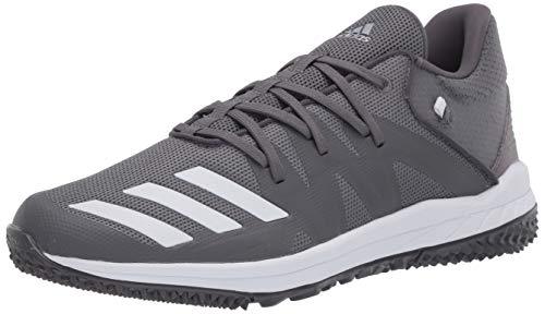 adidas mens Speed Turf Baseball Shoe, Grey/Ftwr White/Grey Five, 11.5 US