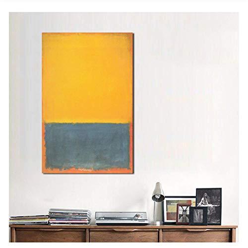 XuFan Mark Rothko clásica Naturaleza Muerta Pintura al óleo Sala Lienzo Cuadros Modernos para Regalo de Arte Arte de pared-20X30 Pulgadas sin Marco