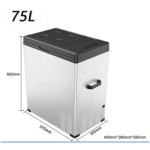 HXPH Tragbarer Kompressor-Kühlschrank mit Gefrierfach (40L50L70L) Mit Wechselstrom oder Gleichstrom betriebener Minikühler (Lebensmittel, Getränke, Wein, Bier, Camping, Reisen, Picknicks)