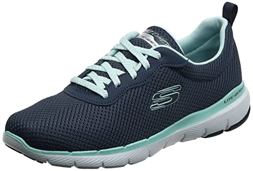 Skechers Damen Flex Appeal 3.0-First Insight Sneaker, Navy Aqua, 39 EU