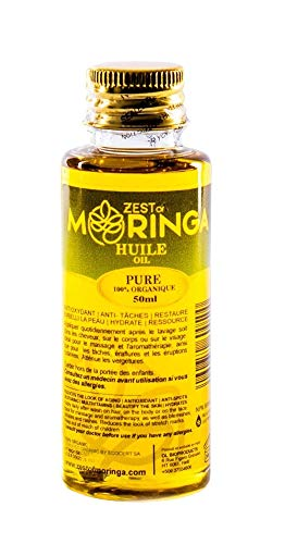 Moringa Oil-100% Pure Moringa Seed Oil- Sustained Improvement in The Appearance of Stretch Marks- Elasticity Belly Oil - Reducing Scars - 50ml