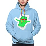 Langlang Kermit-The-Frog Hoodie Anime Funny Casual Pullover 3D Print Mens Cool Sweatshirt Novelty Jacket Black