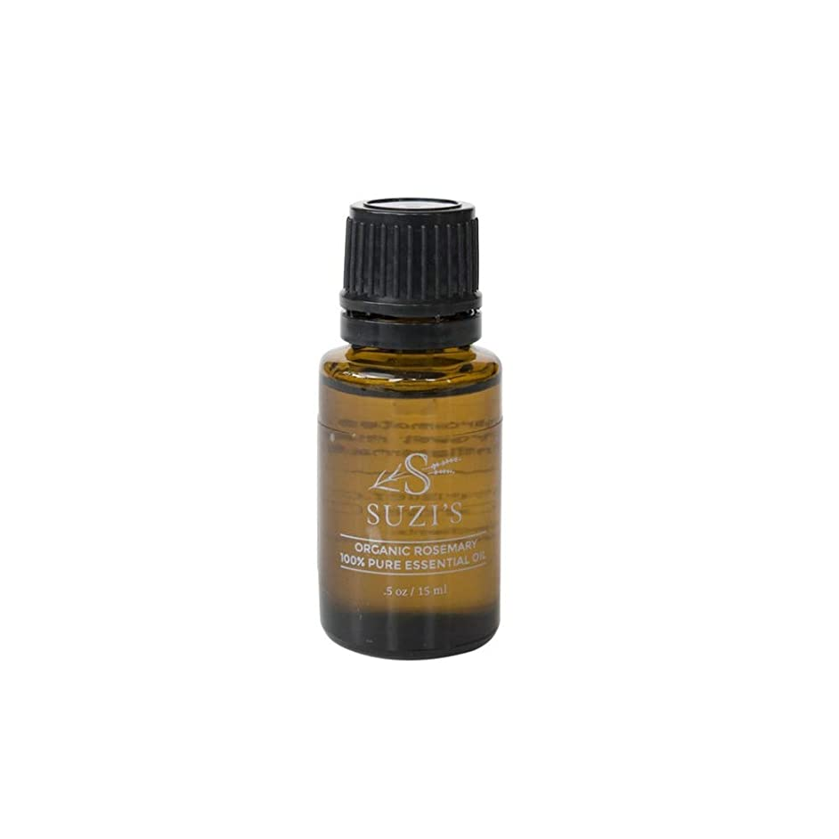 100% Pure Organic Rosemary Essential Oil Suzi's Lavender .5 oz Oil