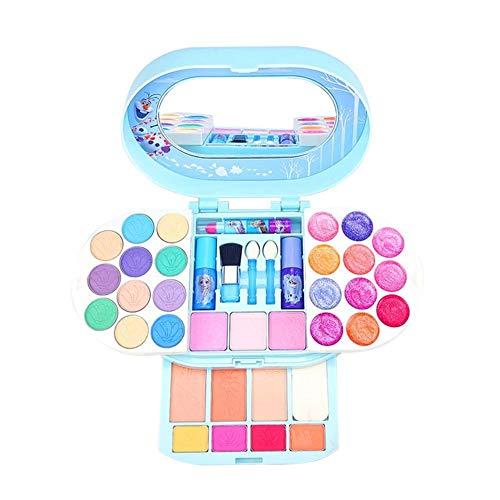 bestshop Make-up-Spielzeug-Set Für Kinder,Kosmetik Werkzeug Spielzeug-Kosmetikspielset Für Mädchen Princess Makeup Box Makeup Palette Für Mädchen Lippenstift Show Spielhaus Spielzeug Lovely