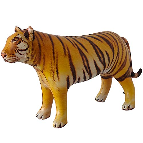 Jet Creations Inflatable Tiger Big Cat Air Stuffed Plush Animal, Ideal for Party Decorations, Supplies, Pool Float Toys, Gift. Size 40 inch. an-Tiger