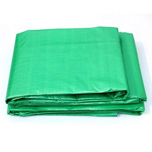 FREIHE.gpf Tissu imperméable de bâche en Plastique de PE épaississant Le Tissu 0.48mm 180g / m de bâche de Toile Verte imperméable de bâche de Protection Solaire (Taille: 5x7M)