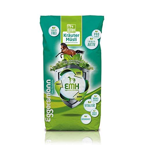Eggersmann EMH Kräuter Müsli – Haferfreies Pferdemüsli – Bei Atemwegsproblemen und Staubempfindlichkeit – 20 kg Sack