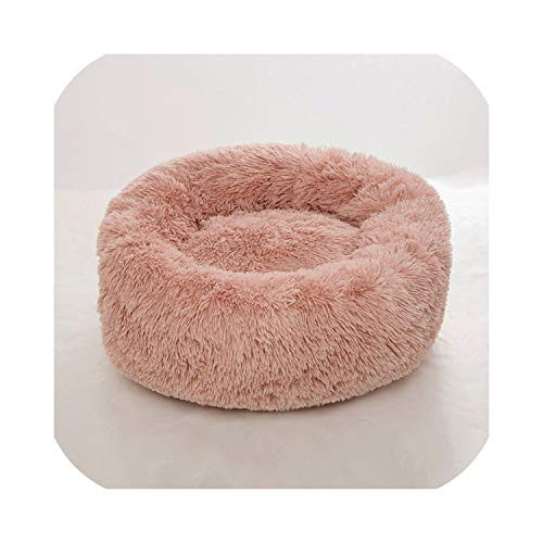 awret Dog Beds for Large Medium Small Dogs Puppy Labrador Amazingly Cat Marshmallow Bed Plush Pet Bed,Light Pink,60cm-23.6in