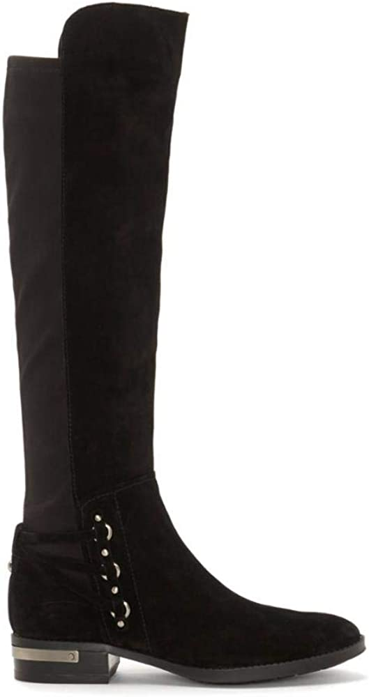 Vince Camuto Poshia Black Leather Tall Knee Riding Boots