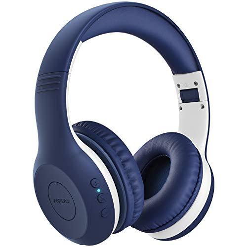Mpow CH6 Plus Auriculares Bluetooth para Niños, Auriculares Inalambricos para Niños, Sonido Estéreo, Límite De Volumen De 94dB, Micrófono con CVC 6.0, Tiempo De Uso De 15 horas, Ligero, Cómodo