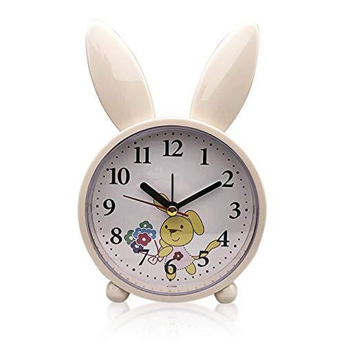 Despertadores,Despertador infantil,despertador clásico analógico,Reloj Despertador Analógico Niños,Despertador para niños sin tic-tac,Reloj Despertador Analogico Silencioso,Despertador Infantil (A)