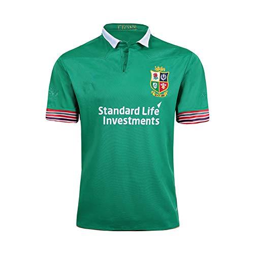 Herren Rugby Jersey Fußball Trikot 2018 Irish Lions Mesh Jersey T-Shirt Schnelltrocknend Komfortable Legende Besticktes Trikot Sportswear Fans Sweatshirt S-3XL-green-XXL(185.190CM)