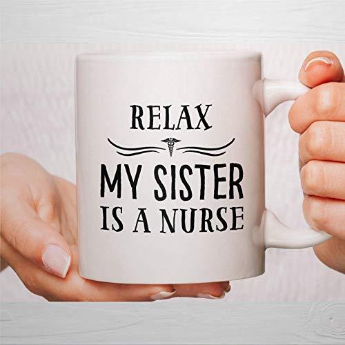 Taza de café, taza de enfermería, tazas de enfermería, tazas de enfermera, tazas de café divertidas, taza de té de cerámica, regalo para amigos, familia, amante y colega de 330 ml