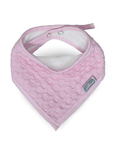 Jollein 029-867-65021 slabbetjes bandana wafelfle, roze